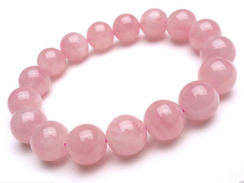 12 mm Dabiskā rozā kvarca rokussprādze